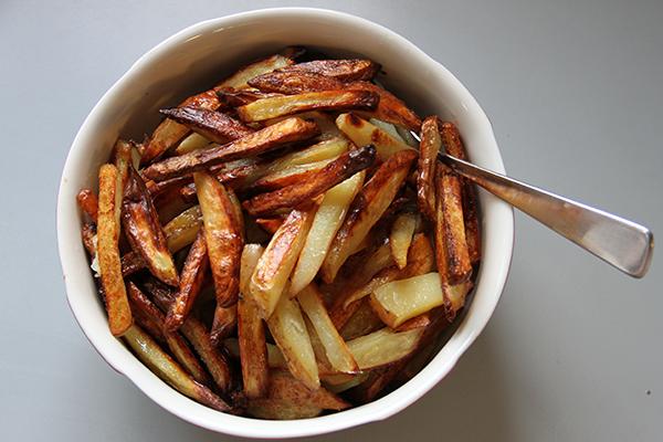 hjemmelaget pommes frites i ovn